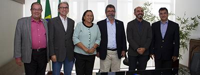 Governadora Fátima Bezerra recebe presidentes de Federações
