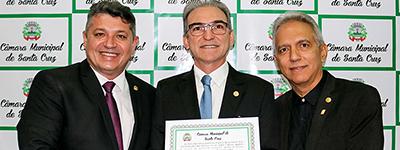Marcelo Queiroz recebe título de cidadão de Santa Cruz