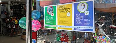 Representantes de entidades empresariais visitam lojistas no Alecrim e dão orientações sobre protocolos de retomada gradual da economia